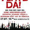 Kundgebung: Platz da! Mia san ned nur mia! Keine Abschiebe-Lager! Seehofer, Scheuer, Söder und Herrmann – hört auf zu zündeln!