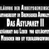 Erklärung der Arbeitsgemeinschaft Migrationsrecht im Bremischen Anwaltsverein: Das Asylpaket II gefährdet das Leben von geflüchteten Menschen und ist verfassungswidrig