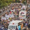 30.000 Menschen aus der gesamten Bundesrepublik und darüber hinaus zu einer großen Parade der Solidarität: we'll come united.