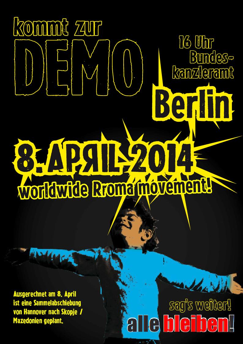 8. April: Auf zur Demo nach Berlin!