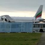 Der Abschiebeflieger von Bulgarian Airline.