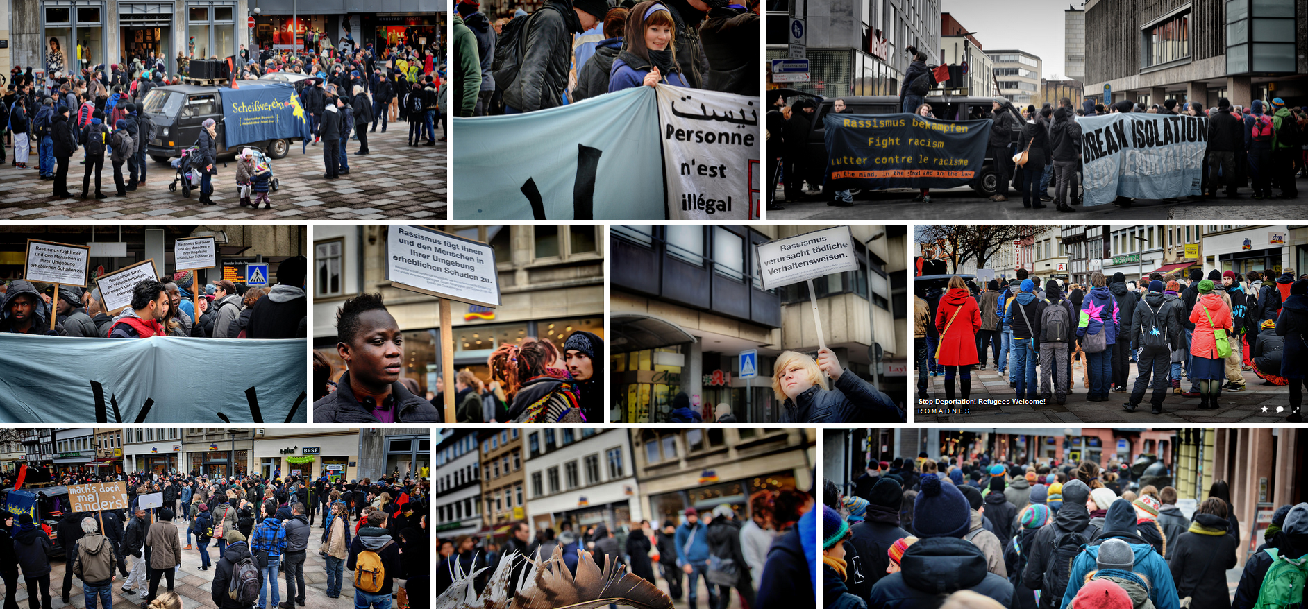 Refugees Welcome!!!Demo Göttingen 07.02.2015 – ein Album auf Flickr